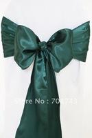 Free shipping -  holly green satin chair cover sash /satin sash