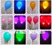 Many color  new design led balloon+lighting +shining balloon/ flashing / led toys 100pcs/lot