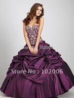 Cheap On Sale Gorgeous Sweetheart Embroidery masquerade ball gowns Taffeta Quinceanera Gown vestidos de 15 anosdebutante gowns