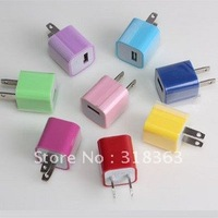 High quality 3PCS USB wall charger Output 5V1000mA Input 100V-240V USB wall charger free shipping EB-iPUT04