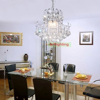 Polished Chrome Crystal lighting modern Luxuriant Flush Mount modern Crystal Chandelier Lamp Contemporary Crystal Chandelier