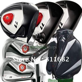 New R, 11Driver 10.5 loft+3# 5#wood+putter+bag Regular/Flex Golf Clubs Complete Club Sets Free shipping