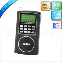 DEGEN DE1126 Digital Radio Recorder FM Stereo MW SW AM 4GB MP3 DSP ATS  D2977A eshow