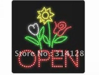 LED Animated Motion open sign with hanging chain 302LED (R:139pcs;G:89pcs;Y:53pcs;W:21pcs) 3PCS