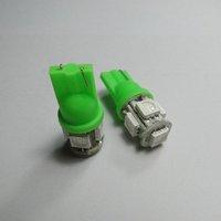 Wholesale Freeship Green T10 SMD5050 5 LED Car Light Interior Lamp Automobile Bulbs Car Wedge Indicator Light