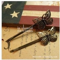 Antique Retro Butterfly Hair Clip Headwear 6pairs/Lot Z-S4005 Free Shipping