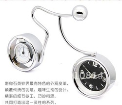 Free Shipping! Hot sale fashion metal motorcycle alarm system good quality table alarm clock for kids(China (Mainland))