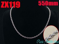 Wholesale - 550mm 21.5Inch 316L stainless steel 3mm elliptic ring chain Jewelry man male necklace chains ZX119