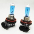 Free shipping/H11 12V 55W New Super White Light Bulbs 6000K 2 Pcs Halogen Xenon Low Beam