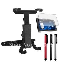 Free Shipping Black Car Holder And 3 Color Stylus Pen With Screen Protector For 10.1 Inch Acer A500(China (Mainland))