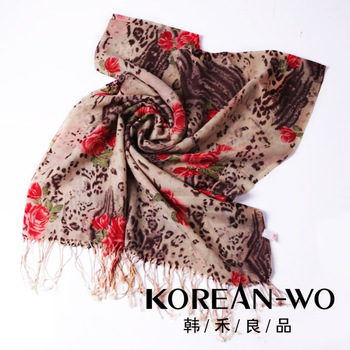 Women's wool scarf peones autumn and winter elegant thermal scarf 1126 - 4