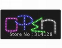 LED open sign(HSO0045) 106LED (G:26pcs;P:26pcs;B:31pcs;W:23pcs) +Adapter+hanging chain 5PCS