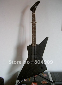 2012 NEW ARRIVAL + Free shipping + manufacturer + ESP CUSTOM James Hetfield's electric guitar with diamond plate and deer skull