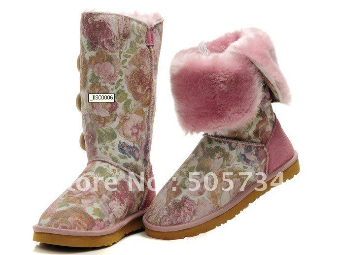 Hot-selling ! Brand name women snow boots , designer lady winter boots . Min order : 1 pair(China (Mainland))