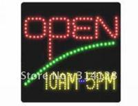 LED open sign(HSO0048) 230LED (R:82pcs;G:27pcs;Y:118pcs;B:3pcs) +Adapter+hanging chain 3PCS