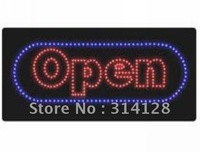 LED open sign(HSO0049) 293LED (R:191pcs;B:102pcs) +Adapter+hanging chain 1PCS