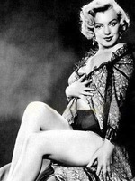 100% handpainted Modern art Oil paintings  - Marily Monroe - Black white photographs