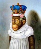 100% handpainted Modern art Oil paintings  - Monkey Lady