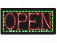 LED open sign(HSO0054) 259LED (R:163pcs;G:96pcs) +Adapter+hanging chain 3PCS