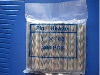 200 PCS Single Row Male 1X40 Pin Header Strip 2.54 mm Z