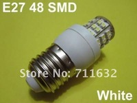 Lot 20PCS E27 48 SMD LED High Power Spotlight 220V Light Bulbs COOL WHITE