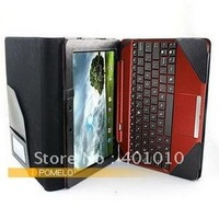 Triple Leather Cover Case for Eee Pad Transformer Prime TF300 and Keyboard  free airmail shipment ED686