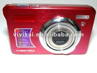 "Free shipping 15MP digital  still camera with 3xOptical Zoom and 2.7"" TFT LCD,hot selling"