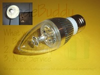 Free Shipping  New and High Quality E27 White 3W / 5W LED Candle Style Light Bulb