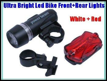free shipping 1 set Flashlight  bike light  Front light+Rear Light