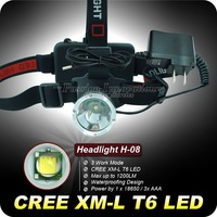 1PC CREE XM-L XML T6 LED 1200L Rechargeable Waterproof Headlamp Headlight