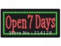 LED open sign(HSO0070) 236LED (R:148pcs; G:88pcs) +Adapter+hanging chain 1PCS