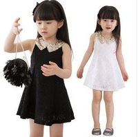 Free shipping dresses new fashion Summer 2013 sequins doll collar lace dress princess/baby/kids dresses,very beutiful