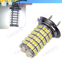 2x Car Auto 120 LED 12V SMD 3528 H7 Fog Light Head Light Lamp Xenon Bulb White Color 2701(China (Mainland))