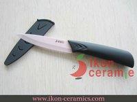 "Free Shipping! 4"" Ikon Ceramic fruit knife New 100% Zirconia & scabbard Ceramic Knife(AJ-D4001P-CGR)"