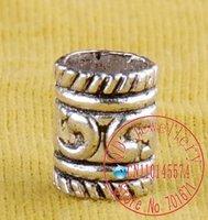 Free shipping jewelry accessories,300pcs/lot Tibetan silver  stripe   barrel decorative bail,Jewelry Findings C18
