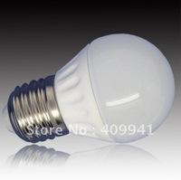 free shipping 3W Ceramic LED Light Bulbs E27 Round Shape Frosted (YK-B-13E-E27-X)