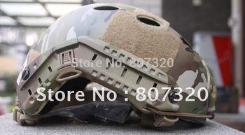 Fast Base Jump Helmet Navy Seal Carbon Shell Multicam PJ-MC free ship