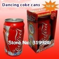Free shipping 1/lot Children's toys boy  dancing coke cans new strange fun novel ideas