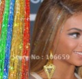 Hot sale 24Inch BellaVia Tinsel Hair Extensions Bling String 3D Rainbow (45 strands=1pcs) 50pcs