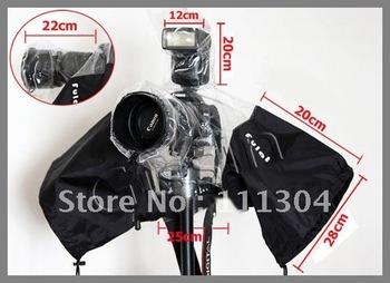 Camera Rain Cover Coat Dust Protector Rainwear Rainproof for CANON NIKON + free tracking number