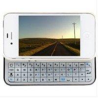 Sliding Bluetooth Wireless Keyboard+Hardshell Case For iPhone 4S 4 Black / White miniBluetooth Wireless Keyboard