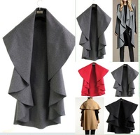 Womens Ladies  Loose Mult-purpose Duffel Cardigan Coat Jacket Wrap Cape Poncho cloak