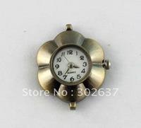 6PCS Antiqued Bronze Flower Watch Face 25mm #20955