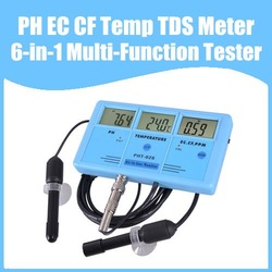 Free Shipping PH EC CF Temp TDS Meter Tester 6-in-1 Multi-Function Tester Water Testing Meter Multi-Parameter Water Monitor(China (Mainland))
