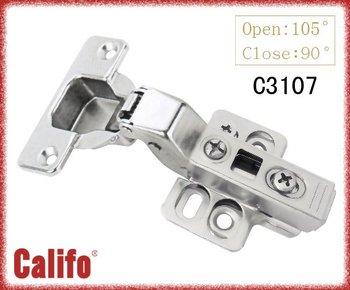 Adjustable soft closing cabinet hinge/Clip-on hinge