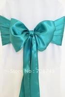 Free shipping -  jade green satin chair cover sash /satin sash