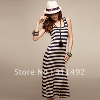 Slim full dress stripe one-piece dress summer dress summer spring summer 2013 new women's tank dress
