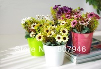 garden decor planter metal pot vase kids home backyard yard lovely vivi colors flower plant outdoor fence indoor