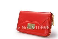 Wholesale Fashion Wallet Case PU Leather Case Leather Pouch with Zipper for iphone 4/4s free shipping(China (Mainland))