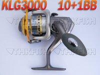 1X Pack 10+1BB 5.1:1 KLG 3000 Series HUIHUANG Front Drag Fishing Reels Cast Aluminium Spool Spinning reel